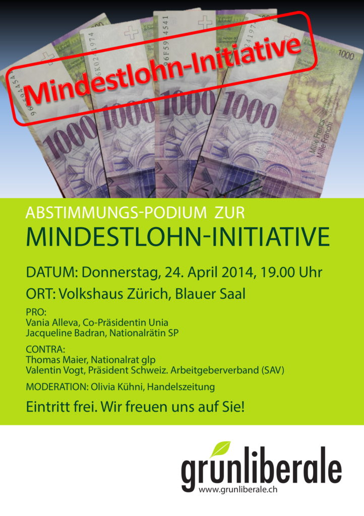 Podium Mindestlohn Flyer