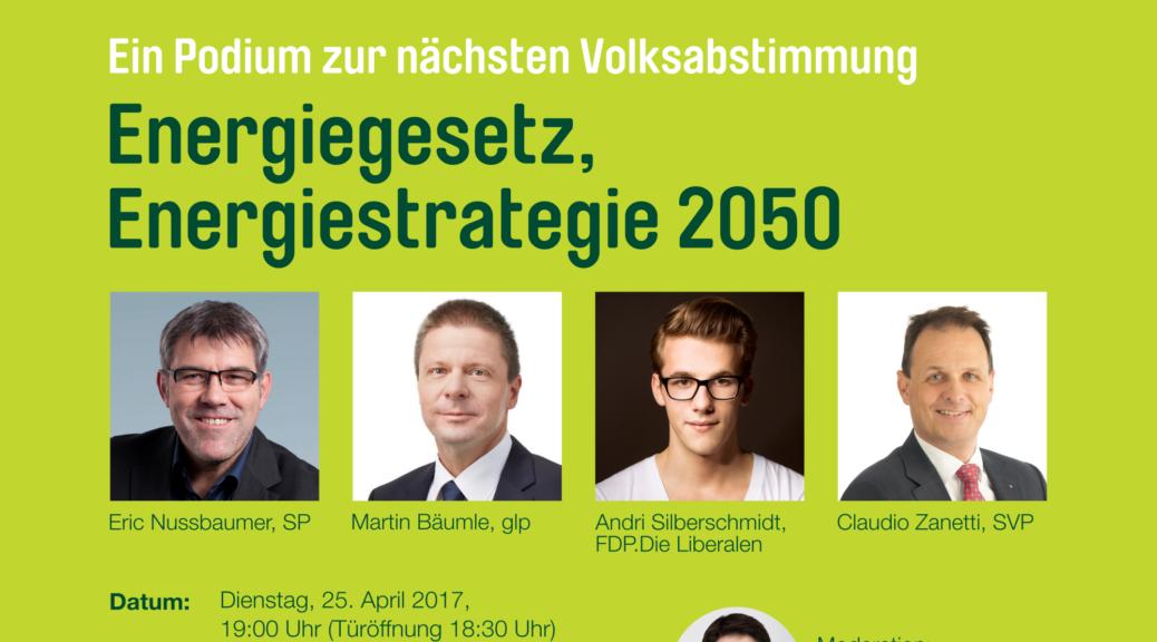 Flyer zum Podium zum Energiegesetz